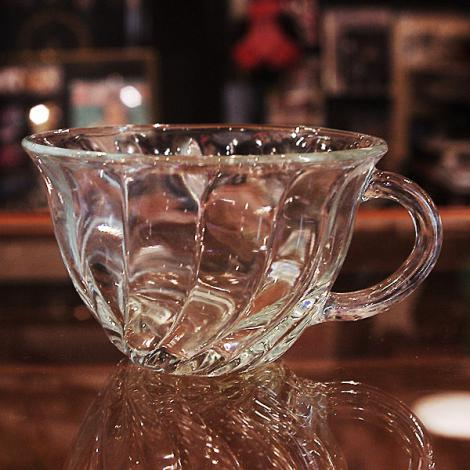 60's Anchor Hocking Crystal Swirl Cup