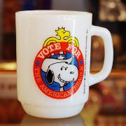 80's Fire King Snoopy For President Mug No.2