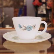 60's Fire King Bonnie Blue Cup&Saucer