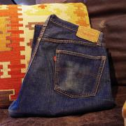 60's Levis 501 Big E  DENIM Pants (S TYPE)