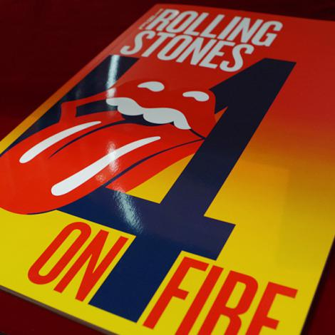 The Rolling Stones ON FIRE TOUR 2014 Pamphlet