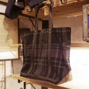 RRL 12' WOOL CHECK TOTE BAG