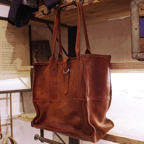 RRL 12' LEATHER TOTE BAG