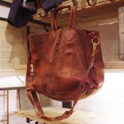 RRL ALL LEATHER 2WAY BAG