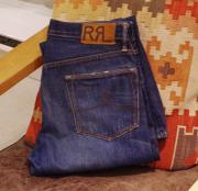 "RRL STRAIGHT LEG WASHED DENIM "" W29 """