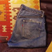 50's Levis 501 ZXX DENIM Pants (Leather Patch)