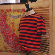 J.CREW BLAZING ORANGE STRIPE TEE